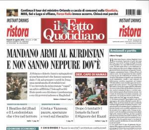 """Marco Travaglio sul Fatto Quotidiano: """"Armiamoli e partite"""""""