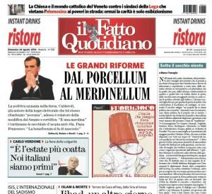 """Marco Travaglio sul Fatto Quotidiano: """"Sotto il secchio niente"""""""