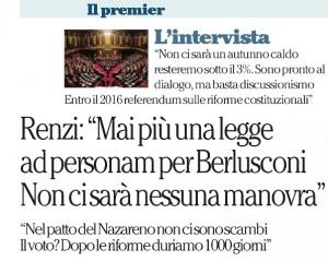 L'intervista di Renzi a Repubblica