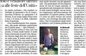 Massimo D'Alema? Vende vino, offre tarallucci e formaggio, sorride (a Otricoli)
