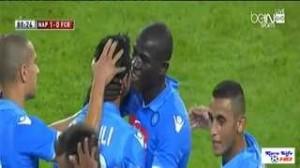 Video gol, Napoli-Barcellona 1-0 (highlights): Dzemaili gol decisivo
