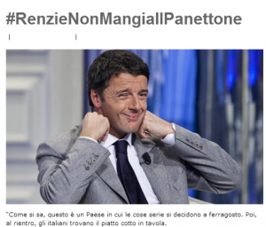 """Blog Beppe Grillo prevede: """"Matteo Renzi non mangia il panettone..."""""""