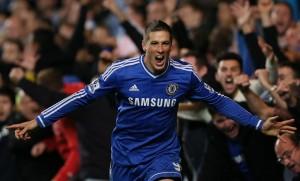 Fernando Torres con la maglia del Chelsea (foto Lapresse)