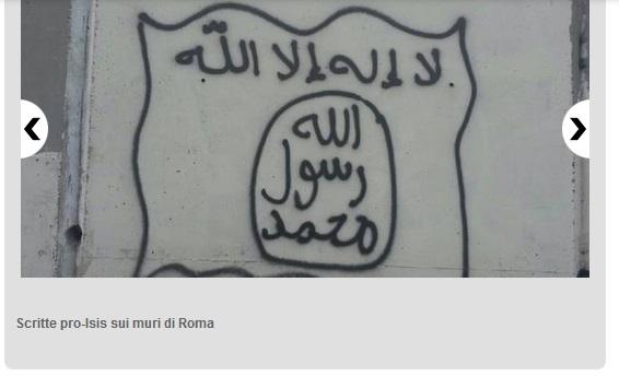La bandiera dell'Isis (foto pubblicata dal Messaggero)