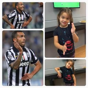 Carlos Tevez. Esultanza dopo il gol inventata dalla figlia (VIDEO e FOTO)