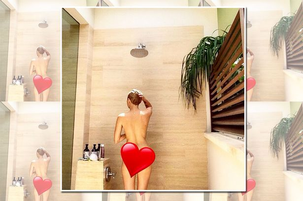 All Miley cyrus naked shower