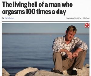 Dale decker, 100 orgasmi al giorno: non riesce a controllarsi