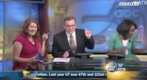 Usa, pipistrello vola in studio in diretta tv: i conduttori si spaventano