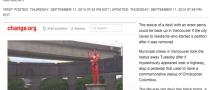 Vancouver, rimossa statua del diavolo con pene eretto: una petizione la rivuole