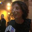 Agnese Landini da sola al party con Clooney