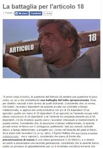 M5S, Grillo tenta Bersani e minoranza Pd: battaglia comune per l'articolo 18