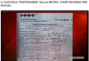 Cagliari. Porta il suo cane in metro senza biglietto: multa di 25 euro VIDEO