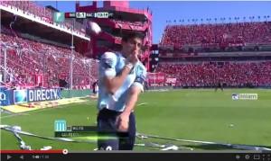 Independiente-Racing Avellaneda: Diego Milito segna e provoca i tifosi avversari... VIDEO