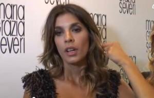 """Elisabetta Canalis """"La mia prima notte di nozze e il vestito di Belen"""" VIDEO"""