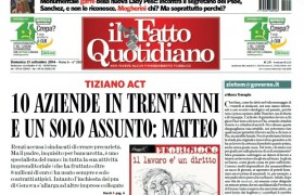 "Marco Travaglio sul Fatto Quotidiano: ""ziotom@governo.it"""