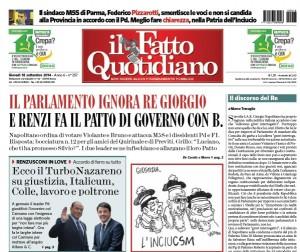 """Marco Travaglio sul Fatto Quotidiano: """"Il discorso del Re"""""""