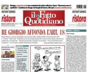 """Marco Travaglio sul Fatto Quotidiano: """"Codice a sbarre"""""""