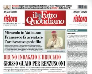 """Marco Travaglio sul Fatto Quotidiano: """"Palazzo Pigi"""""""