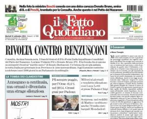 """Marco Travaglio sul Fatto Quotidiano: """"I Cesaroni"""""""