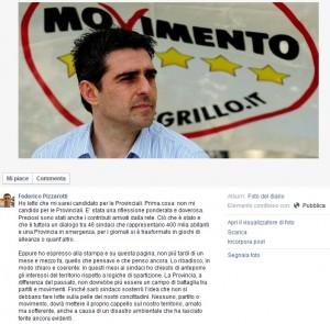 """Provincia di Parma, Federico Pizzarotti: """"Non mi candido"""""""