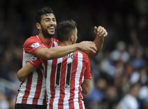 Graziano Pellè video gol rovesciata in Southampton-Qpr 2-1