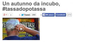 """Blog Beppe Grillo fa il verso a Renzi: """"#Passodopopasso? Sarà #tassadopotassa"""""""