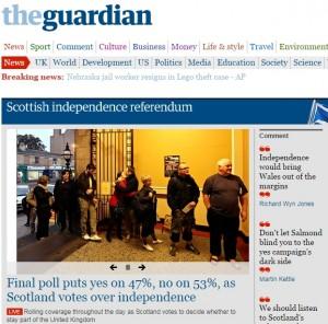 """Scozia, referendum sull'indipendenza: sondaggio al seggio, avanti il """"No"""""""