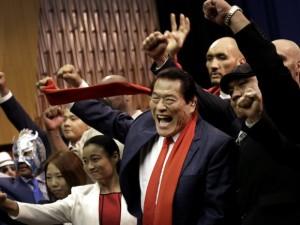 Antonio Inoki, l'ex lottare partecipa a torneo di Wrestling a Pyongyang