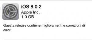 iOS 8.0.2, aggiornamento. Tutti i problemi risolti