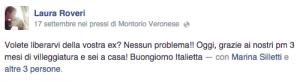 """Laura Roveri: """"Volete liberarvi della ex? No problem, 3 mesi e siete a casa"""""""