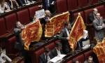 """Lega Nord manifesta in Aula: """"Il futuro del Veneto nelle mani dei veneti"""" FOTO"""
