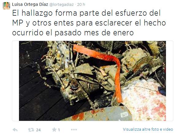 Vittorio Missoni, trovati altri resti dell'aereo a Los Roques (foto)