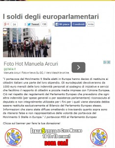M5S: eurodeputati restituiranno 1.000 euro del loro stipendio