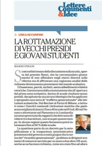 """Scuole senza presidi, colpa della """"rottamazione"""" degli over 65: Mario Pirani, Repubblica"""
