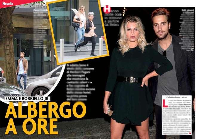 """Emma Marrone in albergo con Fabio Borriello. Ovvero l'ex """"cognato"""" di Belen..."""