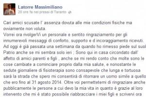 Marò: Latorre, Girone mi ha salvato quando ho avuto ischemia