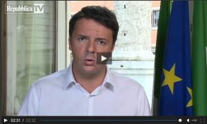 Il videomessaggio di Renzi