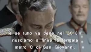 """Adolf Hitler """"si incazza"""" per la Metro C di Roma: la parodia su YouTube"""