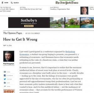 Paul Krugman: economisti faziosi, politici in preda al panico. La disfatta dell'austerity