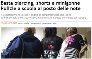 Teolo, a scuola no piercing, minigonne, cellulari accesi. No note, ma pulisci