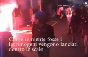 Roma, sgombero di una palazzina: tensioni e lancio di lacrimogeni