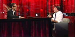 """Matteo Renzi, lapsus a Che tempo che fa: confonde più volte """"dipendenti"""" con """"abitanti"""" VIDEO"""