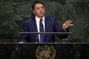 """Matteo Renzi, prima volta all'Onu: """"Mediterraneo non sia un cimitero"""""""