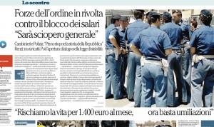 Polizia: levateci il contratto, ma basta promozioni e straordinari non pagati