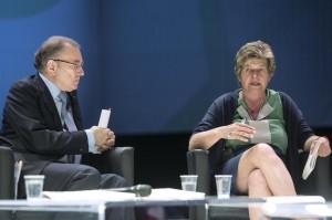 Giorgio Squinzi e Susanna Camusso (foto Lapresse)