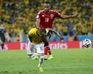 Brasile-Colombia, Neymar-Zuniga: pace in campo in diretta tv (VIDEO)