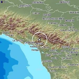 Terremoto tra Massa Carrara e Lucca: magnitudo 3.2