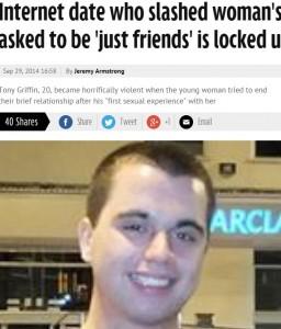 Tony Griffin taglia la gola a ragazza conosciuta sul web: lei non lo ricambiava