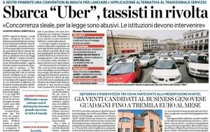 Uber a Genova. Il Comune valuta causa contro la app per tutelare i tassisti