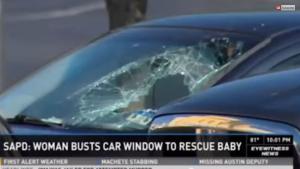 Usa, bimbo dimenticato in auto sotto al sole: donna rompe il vetro e lo salva